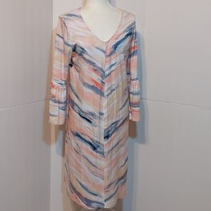 New Directions Women's Multicolored Dress XL